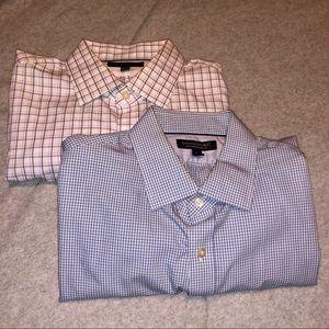 LOT OF 2- Banana Republic Men's Dress Shirts L
